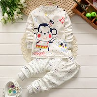 baby clothing monkey - 2016 New Arrival Monkey Boys clothing sets Baby Top pants suit Kids cute toddler children clothes