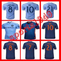 Wholesale America New York City Jerseys Shirt PIRLO MIX DAVID VILLA LAMPARD USA Leagu Home Away Wholesalers Adult loaded