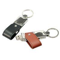 Wholesale Fashionable Leather Flash Drive USB Memory Sticks USB Real GB GB GB GB Flash Drives USB