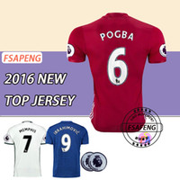Wholesale Mixed buy Top Thailand Quality Short sleeve MancHester soccer Jerseys home away UnITED Ibrahimovic POGBA