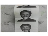 Wholesale Hillary Clinton Toilet Paper Pieces Election Hillary s Face Roll Paper Party Gag Gift Prank Humor Joke TOP1355