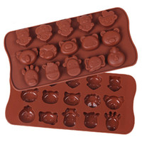animal shapes tray - Four Horned Hippos LOVE All Kinds Of Animal Shapes Silicone Cake Chocolate Ice Tray Model Handing Soap