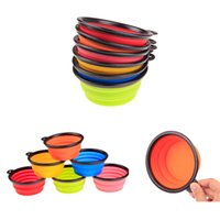 Wholesale Pet Dog Cat Bowl Puppy Drinking Collapsible Easy Take Outside Feeding Water Feeder Travel Bowl Dish