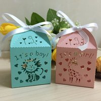 animals favor boxes - 2016 new animal candy box baby shower laser cut party favor box souvenirs baby shower Chocolate box party supplies