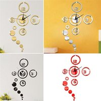Wholesale New Arrivals Modern D Wall Clock Sticker Home Living Room Decor DIY Acrylic Beauty