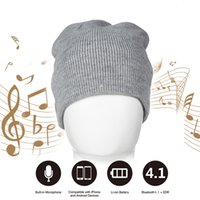 Wholesale Wireless Bluetooth Thick Knit Beanie Winter Hat Cap include Built in Stereo Headphones and Microphone for Outdoor Sports or Holiday Gifts