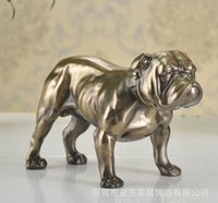 Wholesale Classical SharPei Dog decoration crafts creative Home Office Furnishing resin dog sculpture ornaments high grade