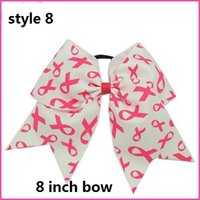 big band aid - 9 style available Large Baby Cheer Bows Breast Cancer Cheerleading Bows With Elastic Band Big AIDS ribbon Cheer Bow For Girls
