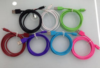 Wholesale Colorful USB Charger Cable M FT Sync Data Fast Charging Cord For Samsung Galaxy S7 S6 Note HTC LG V8 Android Smart Phone