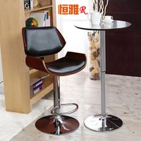 Wholesale Stylish bar chair stool wood chairs reception high H216 Specials