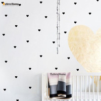Wholesale 48pcs DIY Little Hearts Removable Wall Stickers For Living Room Baby Nursery Bedroom Home Decor Murals Wallpaper