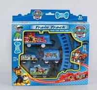 Wholesale Patrol Train Track Tomas Electric Train Set Baby Educational Toys Splicing Rail Train Gift Kids Boys Toys Scale Models