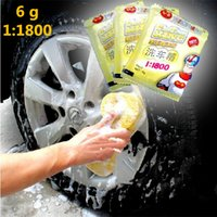 Wholesale 10Pcs Concentrated Car Wash Powder Wash Shampoo Car Wash Shampoo g Mix L Cleaning Agent
