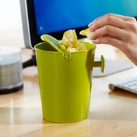 Wholesale Creative mini desktop trash can waste bin table dustbin Waste Container Rubbish Bin storage box Organizer