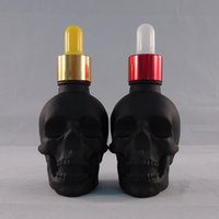 b e heading - 100Pcs ml CRYSTAL Skull head dropping bottles B E juice black bottles skeleton eliquid empty bottle colors