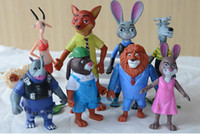 Wholesale Zootopia Action Figure toys cm cartoon Mini Models fox Nick bunny Judy doll Keychain toy kids gift Pendant Bell Chimes Diffrent