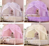 Cheap Hot New Wholesale Hight QC Bedding Canopy Mosquito Net Tent For All Bed Size 4 Colors B447