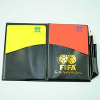 Wholesale retail and high quality red and yellow card professional football soccer match referee wallet