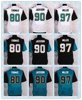 Wholesale Fast New Player Elite Men s Football Jerseys Julius Thomas Malik Jackson Roy Miller White Blue Black Stitched Jersey