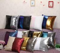 Wholesale 40 cm sparkle Sequins Pillow Case cover Pillowslip Reversible Cushion Pillow Cover Sofa Car Decor Mermaid Pillow Covers design