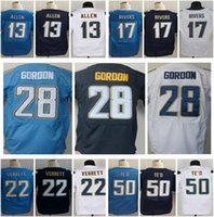 Wholesale Stitiched Keenan Allen Philip Rivers Jason Verrett Melvin Gordon Manti TE O Joey Bosa Elite Jerseys