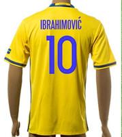anti wear - Thai Quality Customized Euro New season men Swedish IBRAHIMOVIC Soccer Jerseys Shirts Discount Cheap LJUNGBERG Sports Wear tops