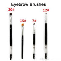 Wholesale Eye Brush Duo Brush Brush Brush Brush Large Synthetic Duo Brow Eyebrow Makeup Brushes Kit Pinceis