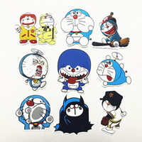 bicycle luggage case - 9pcs Lovely Doraemon Car Sticker Bicycle Decals Waterproof PVC Stickers Motorcycle Accessories Car Styling Laptop Luggage Travel Case