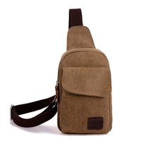 Wholesale Hot new Casual men s chest pack sports canvas bags multifunctional outdoor small male messenger bags Fashion shoulder bags