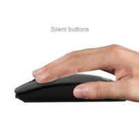 Recargable USB 3.0 Bluetooth Wireless Mouse Silencio Silencio Haga clic en el mini ratón óptico sin ruido 1200 DPI para el ordenador portátil PC