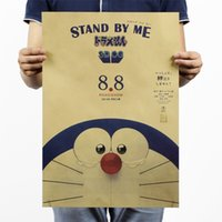 b posters - 2016 the newest Doraemon B models Stand By Me classic cartoon kraft paper decorative poster x35 cm