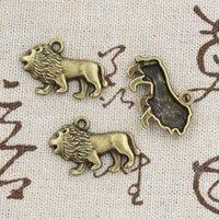 antique bronze lion - 50pcs Charms lion mm Antique Making pendant fit Vintage Tibetan Bronze DIY bracelet necklace
