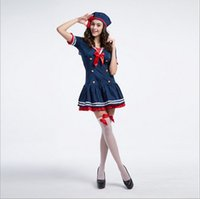 adults movies lot - New Adult Sexy Sailor Costume By DHL Cosplay Halloween Bow Blue Women Dress Uniform Temptation Club Party Clothing Hot Selling