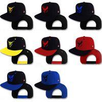 baseball action figures - Poke Go Baseball Pikachu Hat Caps Unisex Women Men Adult Cartoon Action Figure Team Valor Mystic Instinct Hip Hop Snapbacks Ball Caps