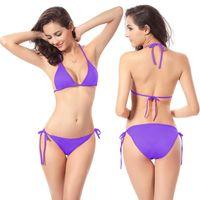 Wholesale Women s Swimming Suit Bikini sexy swimwear Triangle swimsuit plus size bikinis swim suits spa summer european bikini underwear