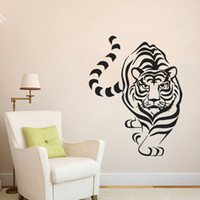 big leap - Tattoo LEAPING TIGER Big Cat Animal Art Vinyl Home Living Room Mural Decor Decal