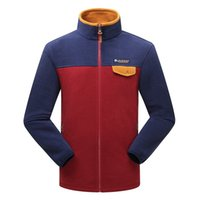Wholesale Men s Outdoor Classic Fleece Hooded Jackets Fashion red SoftShell Windproof winter hoodies jacket coat