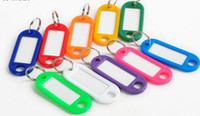assorted keychains - 10000pcs DHL Plastic Key Ring ID Tags Name Card Label Luggage Tags Keychain Assorted