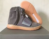 Wholesale hot Boost Glow Dark Kanye West BB1840 quot Glow In The Dark quot Light Grey Light Grey Gum Men Women Trainers Shoes With Box