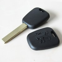 best grooves - Best car key shell peugeot transponder key blank case with groove blade