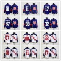 Wholesale 2016 Team USA Patrick Kane Phil Kessel Ryan Kesler Jonathan Quick Max Pacioretty Zach Parise Olympics NHL Hockey Jerseys