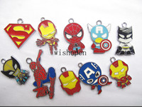 Wholesale New Classic Cartoon Superhero Charm Pendants DIY Jewelry Making D