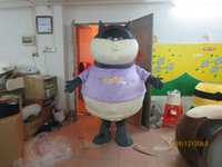 Wholesale Adult Size cute animal fat Cat Costume Halloween Christmas OEM Cartoon Mascot Clothing Party Fancy Dress