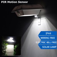 abs motion lights - Waterproof Solar Powered LED PIR Motion Sensor Outdoor Wall Light Garden Yard Path Lamps ABS Security Light White Warm White