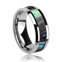 best carbide - Mirror Polish Never Scrath mm Tungsten Carbide Luxury Rings Inlay Genuine Shell Best Gifts Ring For Friends