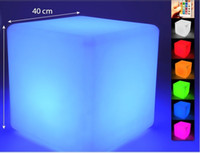 bathroom mood lighting - 13CM Magic Dice waterproof LED glowing square night light decorative led cube lumineux table light for table room mood light