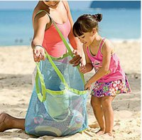 Wholesale Green bags Toys organizer durable Beach Mesh Bags Sand Away Collection Toy Bag Storage bags