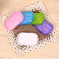 Wholesale New Sheets Travel Portable Health Care Clean Wash Hand Soap Paper Leaves with Mini Case