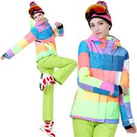 Wholesale GS hot sale hoodie jacket and strap pants snow windproof waterproof winter warm ski suit women XS L