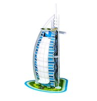 Wholesale 2016 New D puzzle DIY toy birthday gift paper model Dubai Burj Al Arab hotel Children Birthday Gift